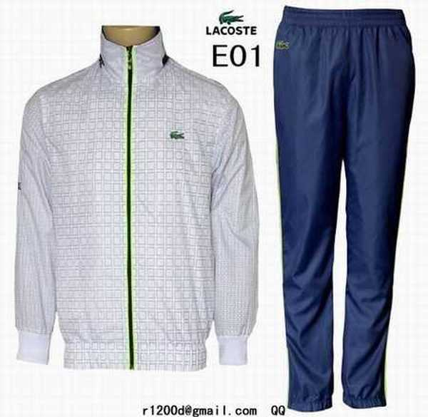 Lacoste Survetement Blanc Carreaux A Faux survetement nvOm0wN8