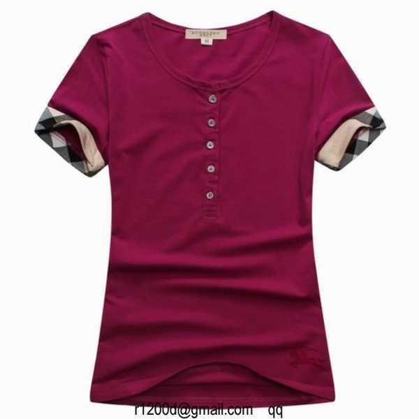 4b52d1a73f6 t shirt burberry femme en solde